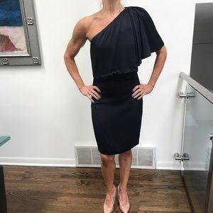 Navy Blue 1-Shoulder Dress